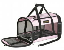 Petmate Soft Sided Kennel Cab Large Pink Zebra 20x11.5x12 Pet Carrier