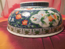 "Andrea By Sadek Big Porcelain Bowl D-8.6""H-3""JAPAN,Floral design,no damage."