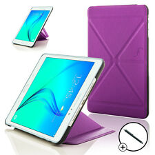 Leather Purple Origami Smart Case Cover for Samsung Galaxy Tab A 8.0 + Stylus