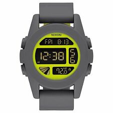 Nixon A197147 Unit  Grey Yellow Unisex Digital Watch