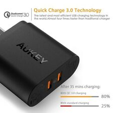 AUKEY Qualcomm certified QuickCharge3.0 dual 36W Wall Charger PA-T16 INDIAN PLUG