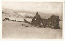 Dog Sled & Team Of Dogs ~ Raphael Tuck & Sons' RPPC Real Photo Postcard 1920's