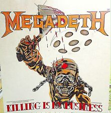 Vintage 1988 Megadeth Killing Is My Business Iron-On Transfer Metal Super RARE!
