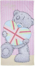 ME TO YOU TATTY TEDDY BEACH TOWEL 70cm x 140cm 100% COTTON HEART PINK LILAC BLUE