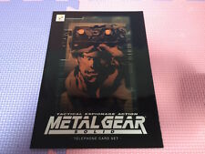 METAL GEAR SOLID PROMOTIONAL TELEPHONE CARD phone NEW NOT FOR SALE 1998 SET