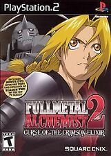 Sony Playstation PS2 Game FULLMETAL ALCHEMIST 2: CURSE OF THE CRIMSON ELIXIR