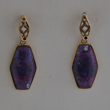 Barse Jewelry Purple Turquoise and Bronze Earrings