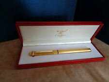 LES MUST DE CARTIER PENNA STILOGRAF. PLACCATA ORO FOUNTAINPEN GOLD VINTAGE NEW 1