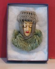 Unmarked Brooch - Ethnic - Possibly Russian - Woman with Headress