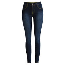 Womens High Waisted Stretchy Leggings Slim Skinny Pencil Pants Trousers Jeggings