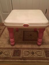 VGC Little Tikes Victorian TENDER HEART PINK & WHITE Country Kitchen Table