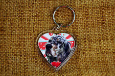 English Setter Gift Keyring Dog Key Ring heart shaped gift Valentine