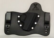 FoxX Leather & Kydex IWB Hybrid Holster Remington R51 Black Right draw Tuckable