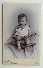 CDV nommé PHOTO WILDOR MARIE ANNE ANTHONY bébé ENFANT 031