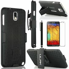 HYBRID CASE CLIP HOLSTER RUBBER HARD COVER STAND FOR SAMSUNG GALAXY NOTE 3 N9000