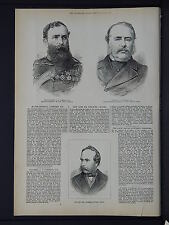 Illustrated London News Full Page B&W S6#102 Jan 1879 The Late Mr Charles Baxter