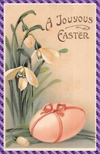 Carte Postale - Fantaisie - Gaufrée -  œuf de Pâques