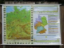 PULL DOWN SCHOOL WALL MAP OF GERMANY /  KARTE VON DEUTSCHLAND