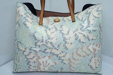 Tory Burch Kerrington Square Tote Handbag Beige Multi Bag Handbag NEW