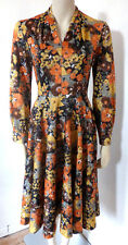 Vintage 70s Floral Midi Summer Dress UK Size 8