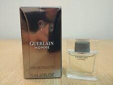 Guerlain Homme 5 ml EDT MINIATURE PERFUME FRAGRANCE New w/ box