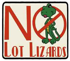""" No Lot Lizards ""   Trucking     Vintage 1970's Style  Travel  Sticker Decal"