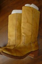 FRYE 14L Campus heavy LEATHER BOOTS 9  banana