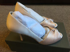 Phase Eight Milly Satin Peep Toe Shoes SIZE 38 / 5