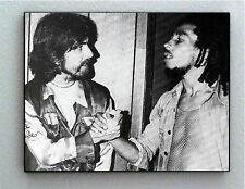 Rare Framed George Harrison with Bob Marley Vintage Photo. Giclée Print