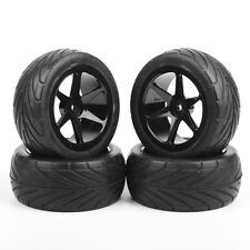 4X KF Rubber Off-Road Front&Rear Tires Wheel Rim For RC 1:10 Buggy Car HH0468