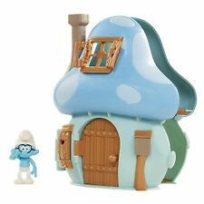 Smurfs The Lost Village Mushroom House Playset with Brainy Smurf Figure