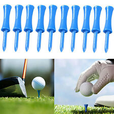 100pcs Plastic Step Down Golf Tees Graduated Castle Tee Height Control Blue 68mm