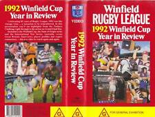 RUGBY LEAGUE WINFIELD CUP 1992 YEAR IN REVIEW  VHS VIDEO PAL~ A RARE FIND