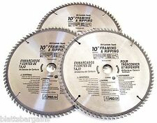"3 ATE PRO 10"" CIRCULAR TABLE MITER SAW BLADES 80T 80 TOOTH CARBIDE TIPPED 33023"