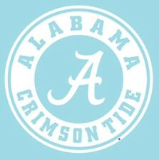 UNIVERSITY OF ALABAMA CRIMSON TIDE LARGE CIRCLE DECAL, AUTO, CORNHOLE