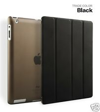 Flip Case For Apple iPad 2/3/4 Folio Magnetic Cover Wake sleep Black