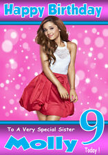 ARIANA GRANDE 2 Personalised Birthday Card! ANY NAME/ RELATION / AGE!!..Unique!!