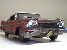 "1958 Plymouth FURY ""CHRISTINE""  UnRestored Movie Car - WORKING LIGHTS 1/18 Scale"