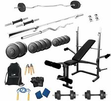 PROTONER  32 KGS + 5 in 1 bench weight lifting home gym fitness package