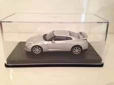 NISSAN GT-R 2008 MET SILVER IXO NEW 1:43 Scale Part Work In Presentation Case
