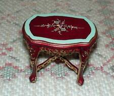 MINIATURE DOLLHOUSE 1:12 SCALE - (CARVED & HAND PAINTED) COFFEE TABLE #1209