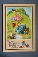 R&L Modern Postcard: J Salmon Nursery Rhyme, Jack and Jill