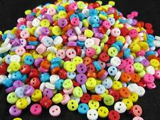 800pcs colorful plastic mini two hole buttons lot 6mm QLB