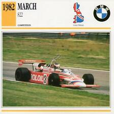 1982 MARCH 822 Racing Classic Car Photo/Info Maxi Card