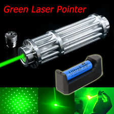 High Power Military Green 1W Laser Pointer Pen 532nm Burning Beam+18650&Charger