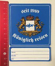 Aufkleber/Sticker: Seit 1910 Abr Königlich Reisen - Adressaufkleber (02061664)