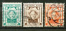 Nederland  141 - 143 gebruikt