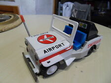 Vintage tin toys car Jeep Ichiko 60.70's jouet tole Compagnie SWISS AIRLINES
