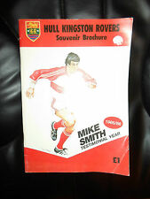 Hull Kingston Rovers Souvenir Brochure 1985/86 Mike Smith Testimonial Year+Pics