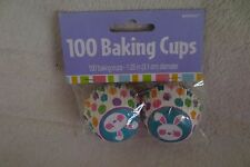 Amscan Bunny Mini Cupcakes Liners Baking Cups 100ct Easter New